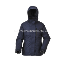 BF-JK-016PS Womens 3 in 1 jacket in fabric Twill micro fiber with PU coating