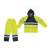 PU Polyester Tricot Waterproof Children's Reflective Rain Suit