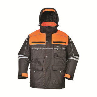 300D Polyester Oxford Combine Color Winter Padded Safety Jacket