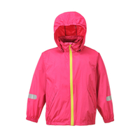 Womens Polyester Ripstop with PU Clear Coating Windbreaker Jacket with Hood