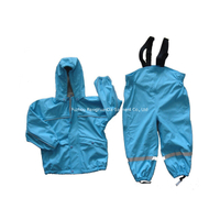PU Polyester Tricot Fashion Waterproof Children's Rain Suit