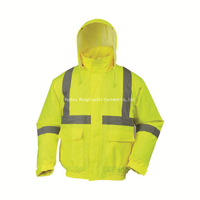 BF-JK-004O Hi Vis 300D Polyester Oxford Safety Jacket