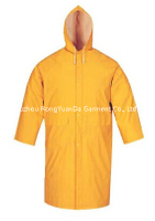 PVC/Polyester Waterproof Long Raincoat