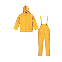 PVC Polyester Waterproof Bib Rain Suit
